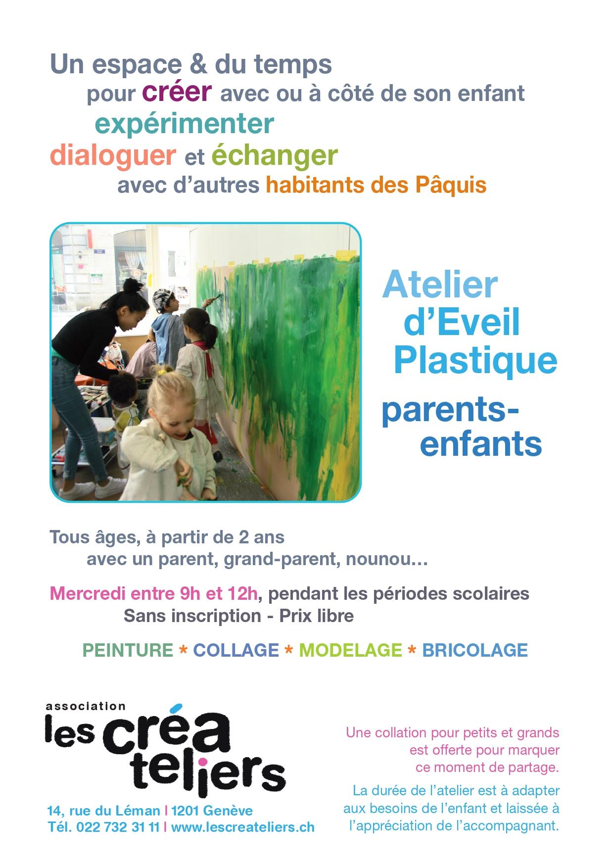 Flyer Atelier d'éveil plastique parents-enfants